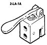 Aventics 2-LA-1A Normally Closed Pilotair® Valves with Palm Lever